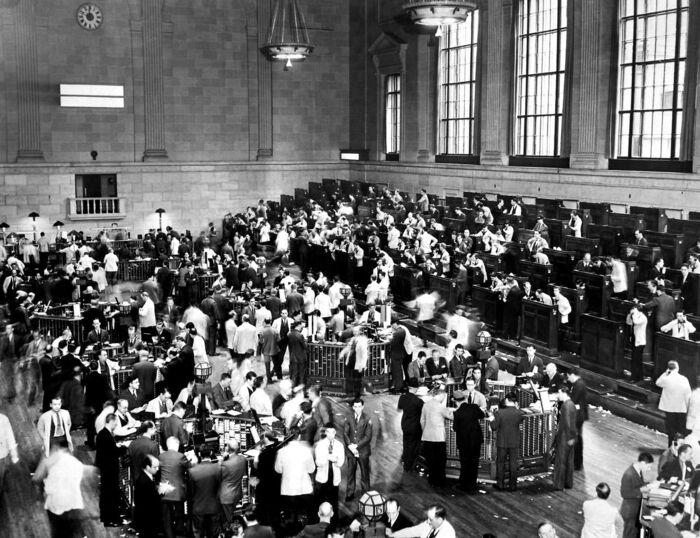 I oktober 1929 begyndte nedturen på Wall Street, som indvarslede 1930ernes store, økonomiske depression. Arkivfoto: AFP PHOTO