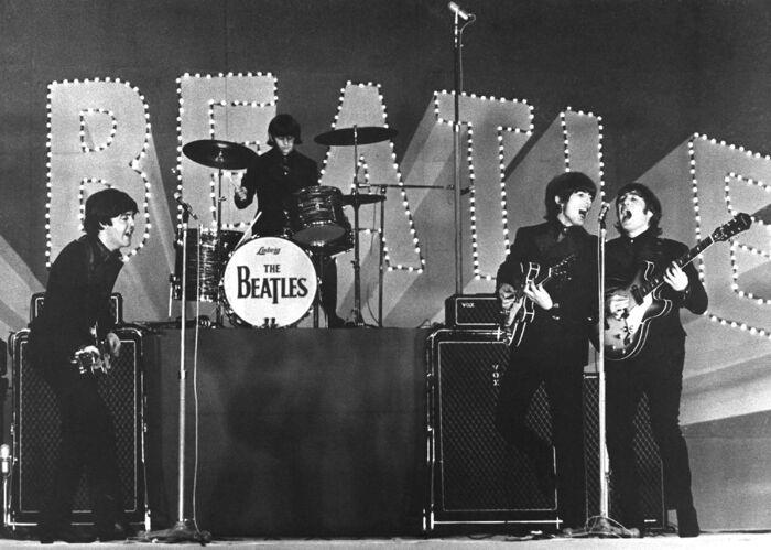 The Beatles optræder i Tokyo i 1966. Foto: Jiji Press / AFP